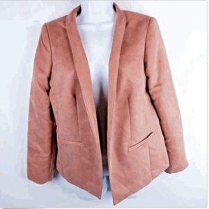 Chicos Women's Size 1 Pink Cardigan Career Blazer